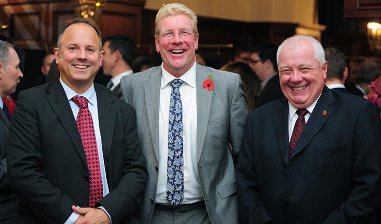 John Peters (SWIG), Kim Conchie (Cornwall Chamber of Commerce), Ivan Burnard (Francis Clark)